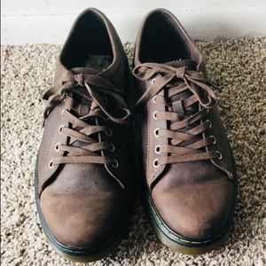 DR Martens Brown Leather Sneakers Size 11